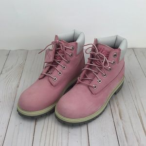 Pink Kids Timberland boots Genuine Leather Size2.5